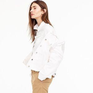 J. Crew White Denim Jacket